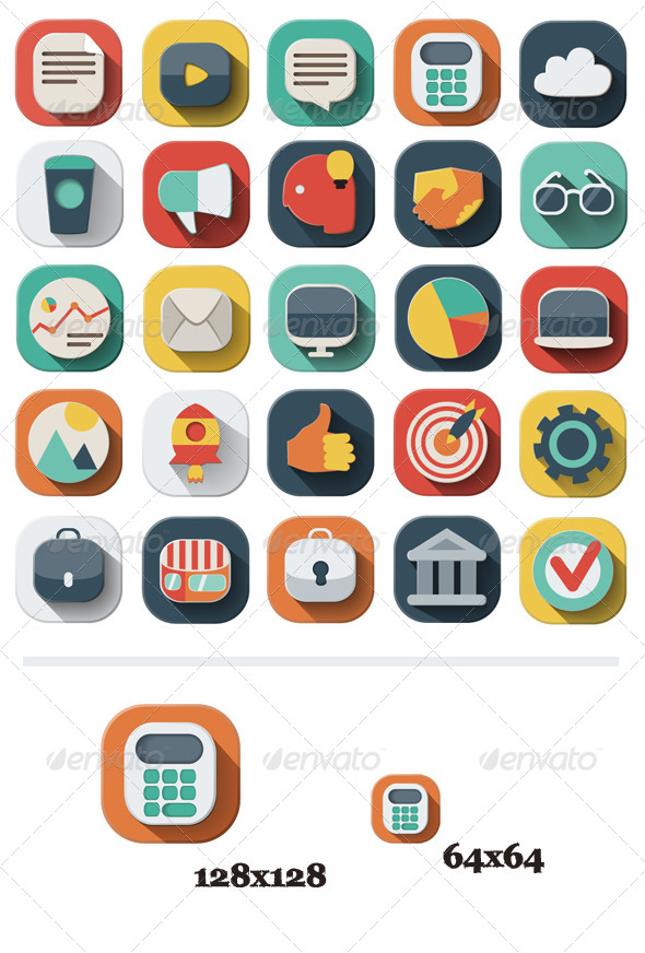 GraphicRiver 25 Business Icons Set 6075423