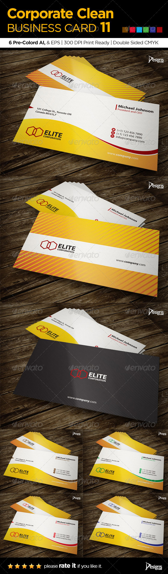 GraphicRiver Corporate Clean Business Card 11 6075687