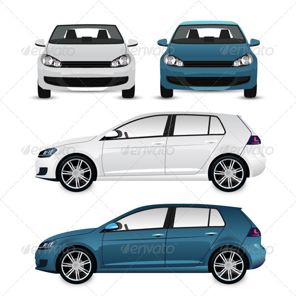 GraphicRiver Vector Cars 6075826