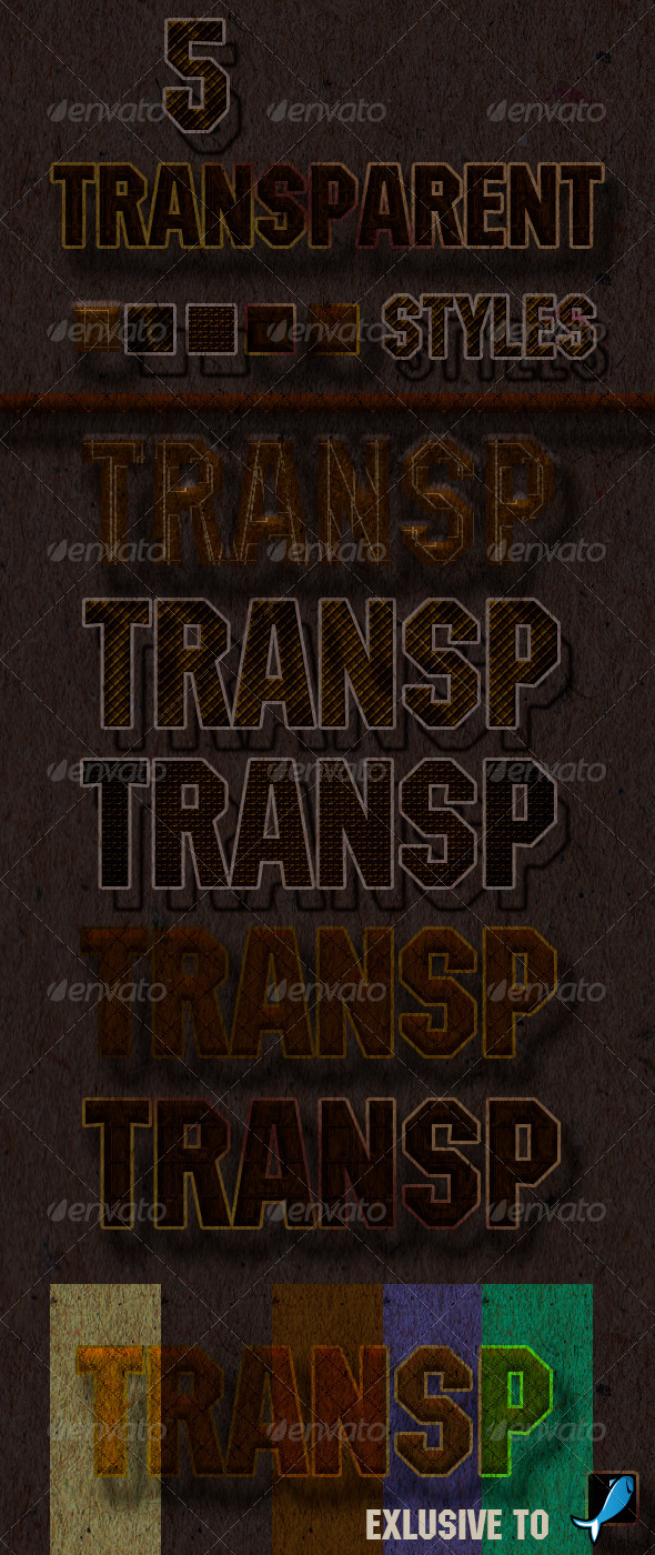 GraphicRiver 5 Transparent Styles 6075845