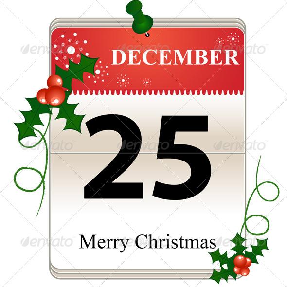 GraphicRiver Christmas Calendar Date 6066449