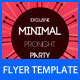 Minimal Flyer - GraphicRiver Item for Sale