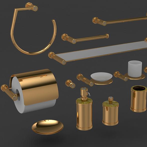 Harmonica bathroom accessories - 3DOcean Item for Sale