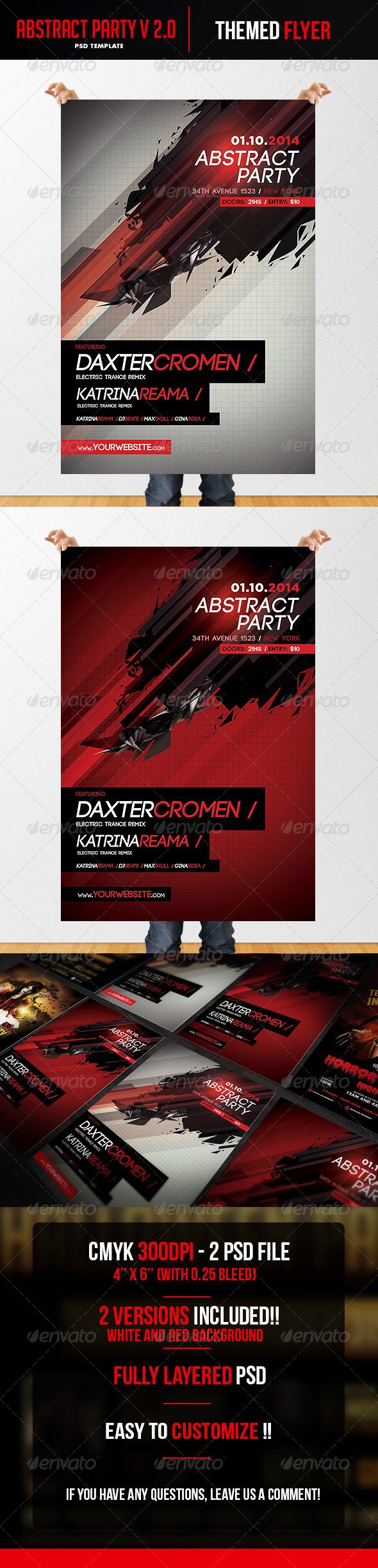 GraphicRiver Abstract V2 Flyer Template 6075993