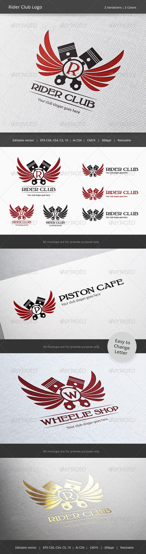 GraphicRiver Rider Driver Club Crest Logo 6076022