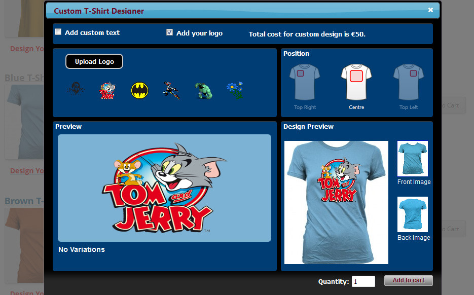 Wp ecommerce custom t shirt design studio by wpproducts for T shirt design maker website