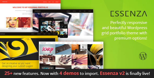 Essenza - Responsive Grid Portfolio Theme - Portfolio Creative