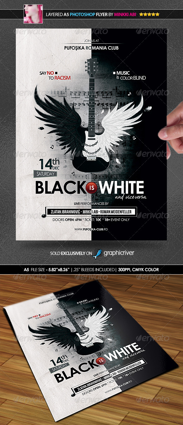GraphicRiver Music Is Color Blind Poster Flyer 6076659