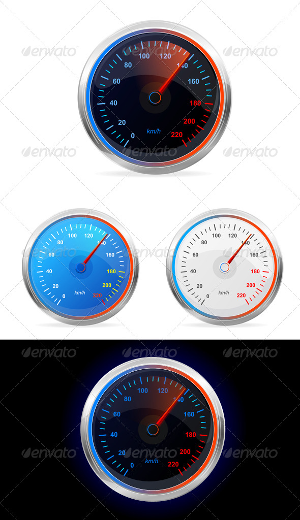 GraphicRiver Speedometers Vector Set 6076729