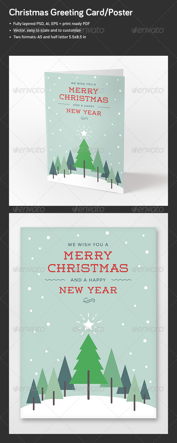 GraphicRiver Christmas Greeting Card Poster 6076829