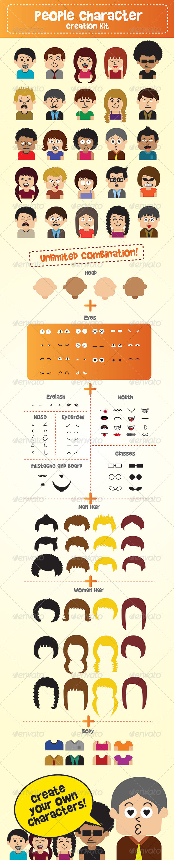 GraphicRiver People Character Creation Kit 6070824