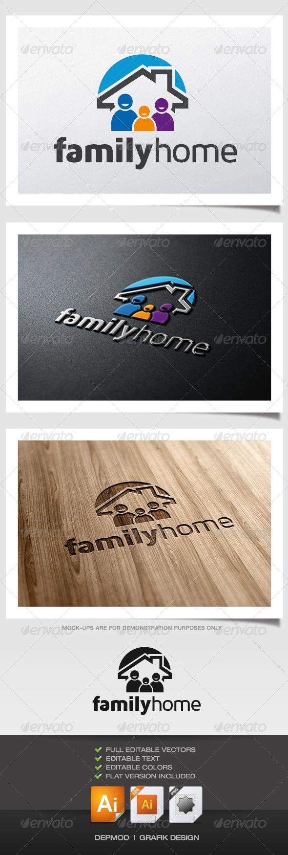GraphicRiver Family Home Logo 6077685
