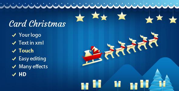 CodeCanyon Christmas Card with Sleigh 6077916