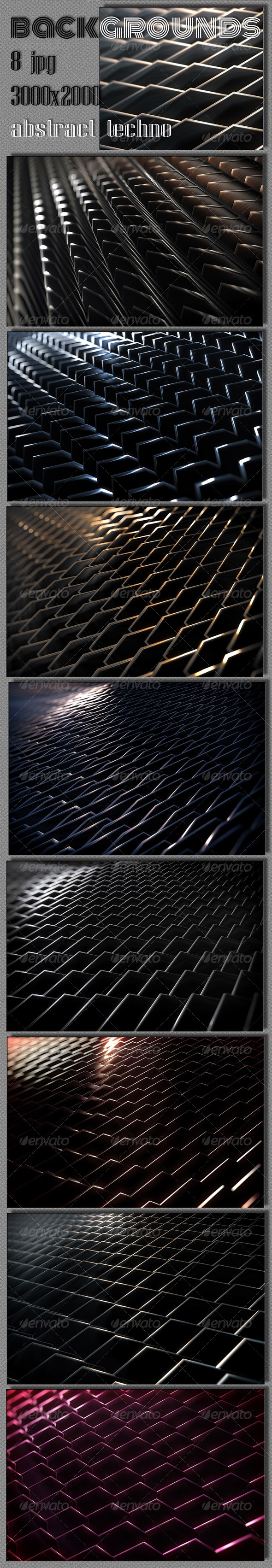 GraphicRiver Techno 3D Backgrounds 6078106