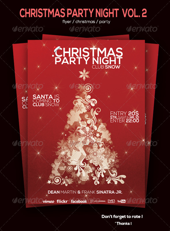 GraphicRiver Christmas Party Flyer Vol 2 6078132