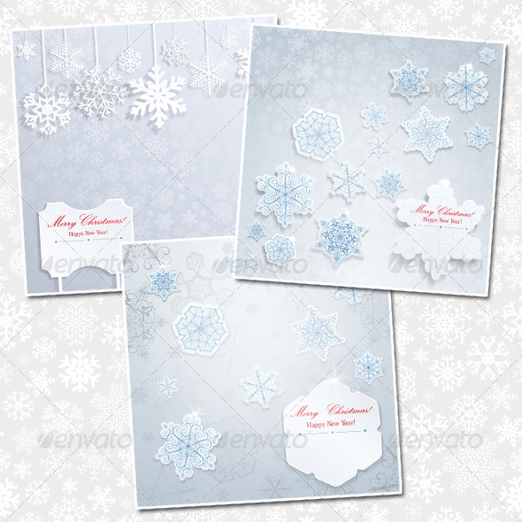 GraphicRiver Christmas Backgrounds With Snowflakes 6078254