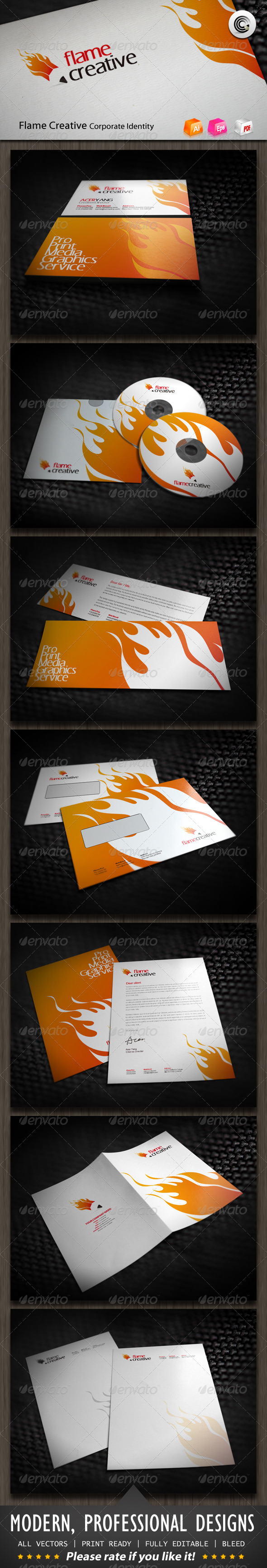 GraphicRiver Flame Creative Corporate Identity 590166