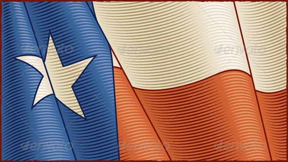 GraphicRiver Vintage Texas Flag Background 6078262