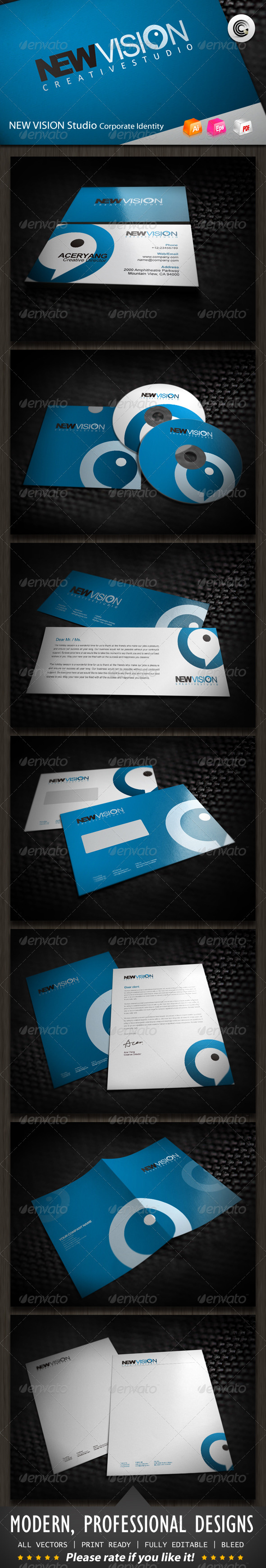 GraphicRiver New Vision Studio Corporate Identity 584853