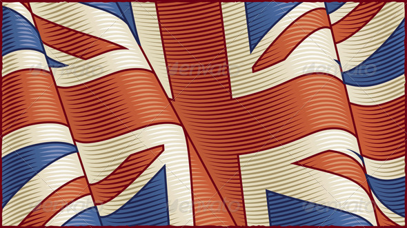 GraphicRiver Vintage British Flag Background 6078439