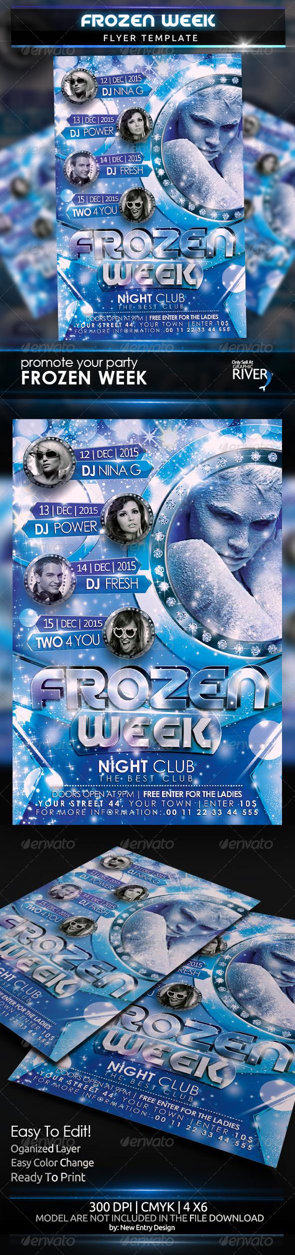 GraphicRiver Frozen Week Flyer Template 6078467