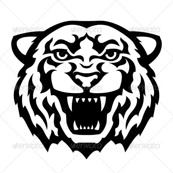 GraphicRiver Tiger Head Tattoo 6078584
