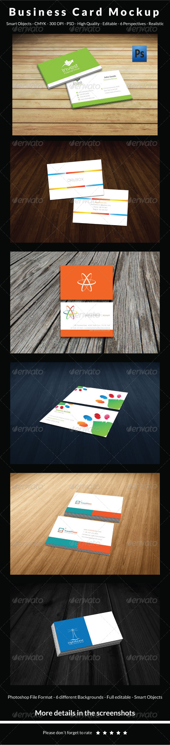 GraphicRiver Clean Business Card Mockup 6079293