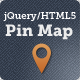 jQuery/HTML5 Pin Map