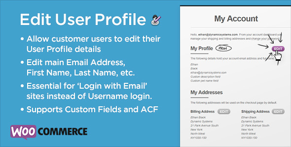 CodeCanyon WooCommerce Advanced Edit Customer User Profile 6079489