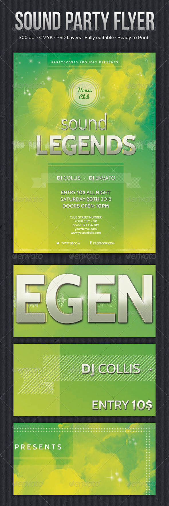 GraphicRiver Sound Party Flyer 6079530