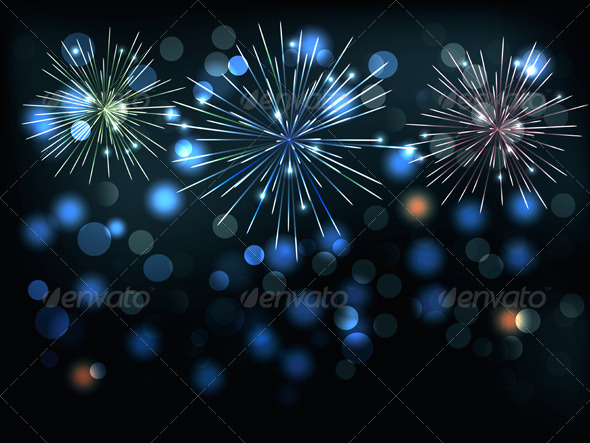 GraphicRiver Holiday Background with Colorful Fireworks 6079713