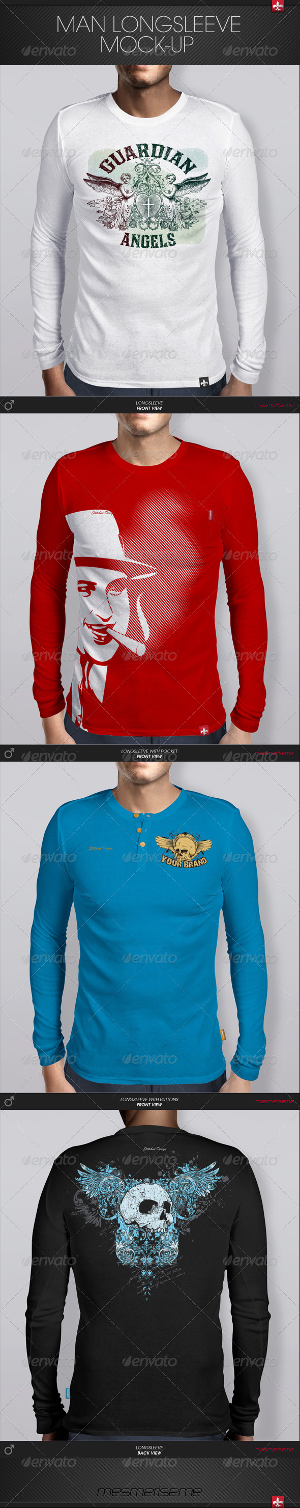 GraphicRiver Man Longsleeve Mock-up 6029241