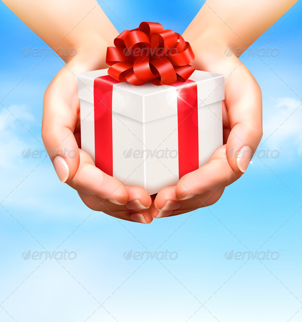 Gift Red And Gold Background » Tinkytyler.org - Stock ...