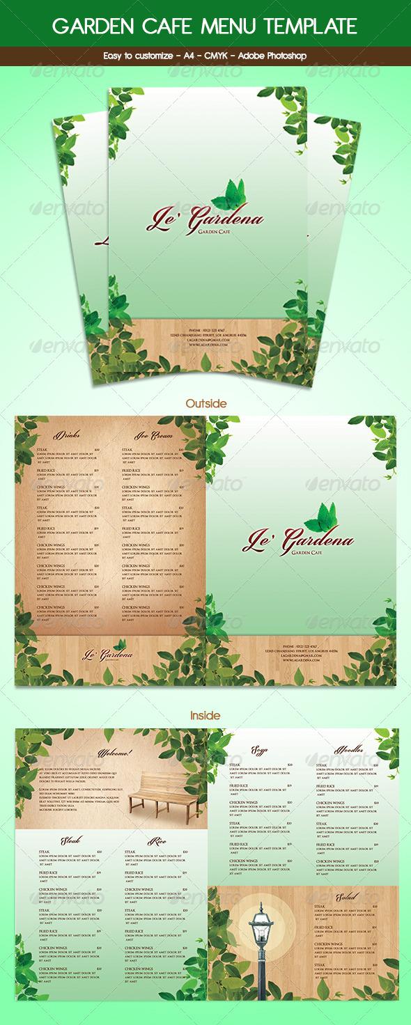 GraphicRiver Garden Cafe Menu 6056468