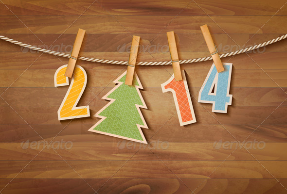 GraphicRiver Happy New Year background Vector 6080091