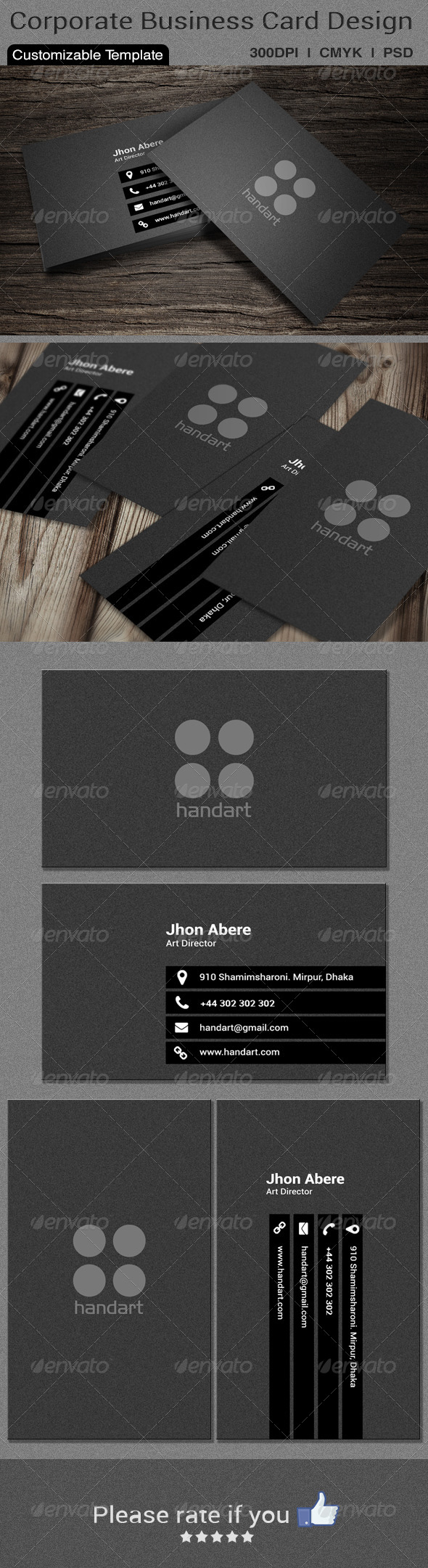 GraphicRiver Corporate Business Card Design 6080508