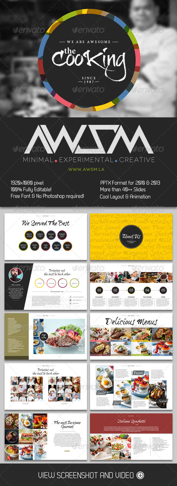 GraphicRiver Cooking Master PowerPoint Presentation 6080525