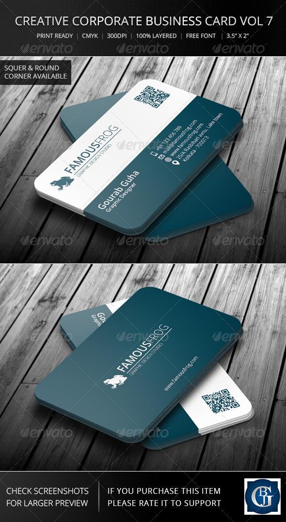 Creative Corporate Business Card Vol 7 - Corporate Business Cards