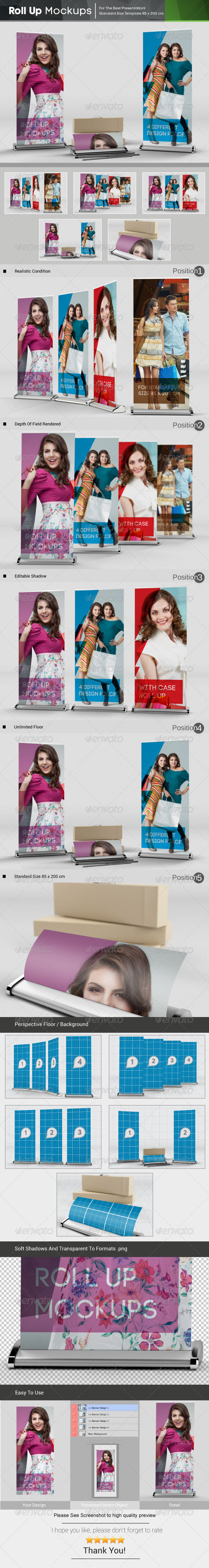 GraphicRiver Roll Up Mockups 6081352