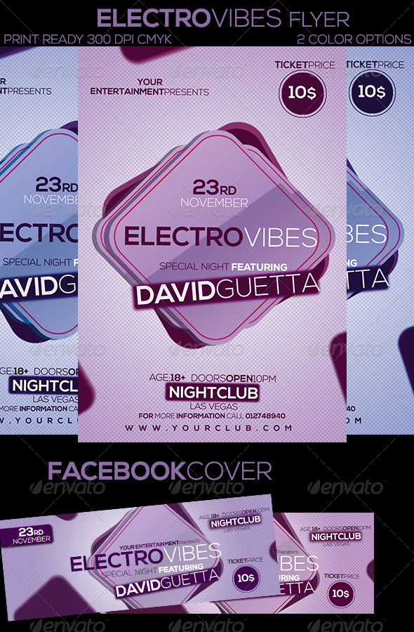GraphicRiver Electro Vibes Flyer 6047624