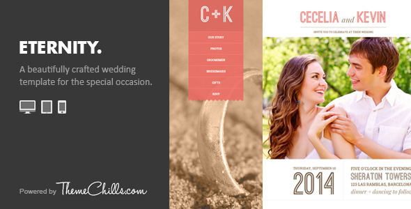 Eternity - Responsive Wedding Template - Wedding Site Templates