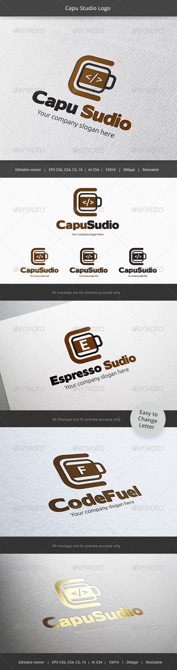 GraphicRiver Coffee developer Studio Logo 6081367