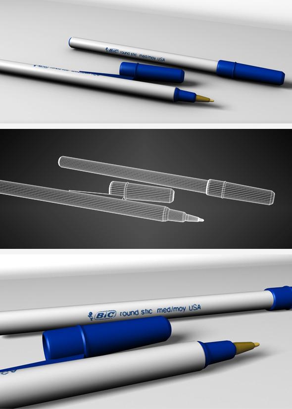 3DOcean Blue BIC pen 634784