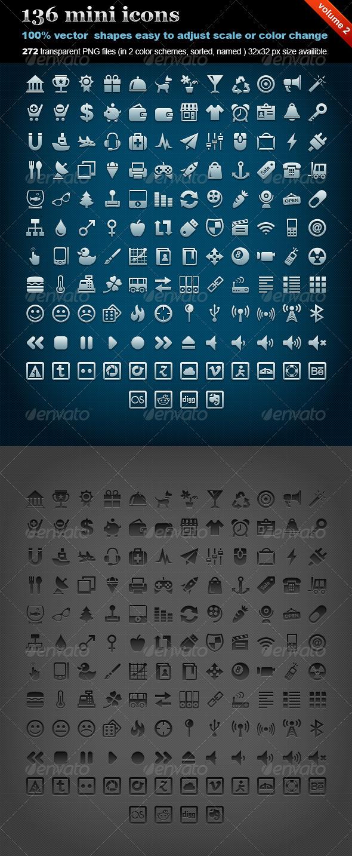 GraphicRiver 136 mini icons volume 2 605482