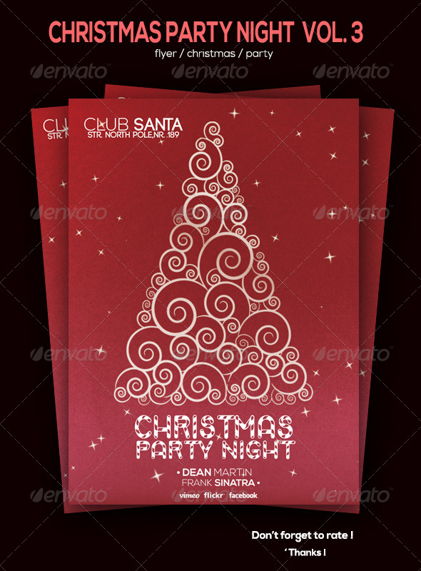 GraphicRiver Christmas Party Flyer Volume 3 6078437