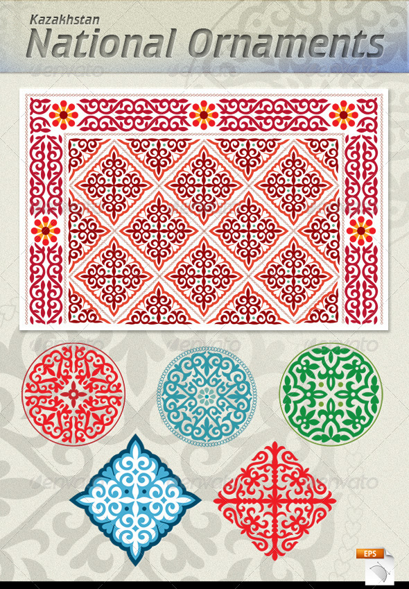 GraphicRiver Kazakh National Ornaments 6081929