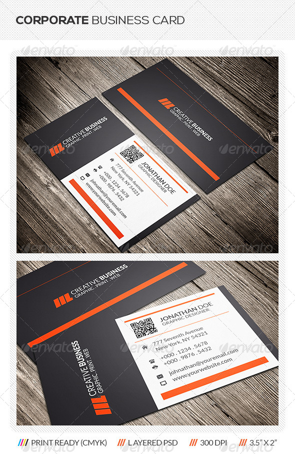 GraphicRiver Corporate Business Card 6082077