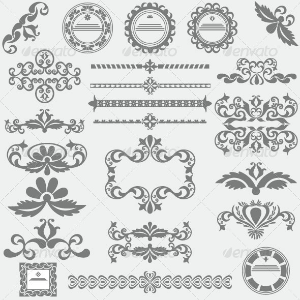 GraphicRiver Vintage Design Elements 82 6082229