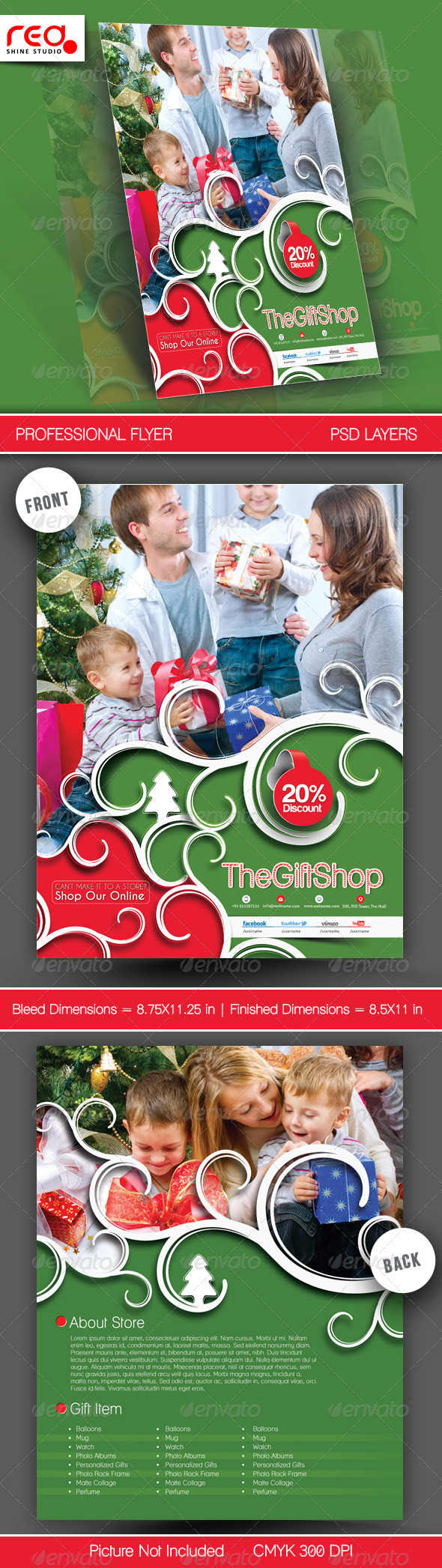GraphicRiver Gift Shop Flyer Poster Template 1 6082411