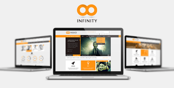 ThemeForest INFINITY Flat PSD Template 6082654